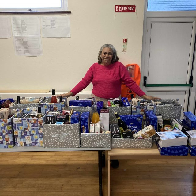 Sylvana Sullivan preparing hampers for the Active Retirement Group