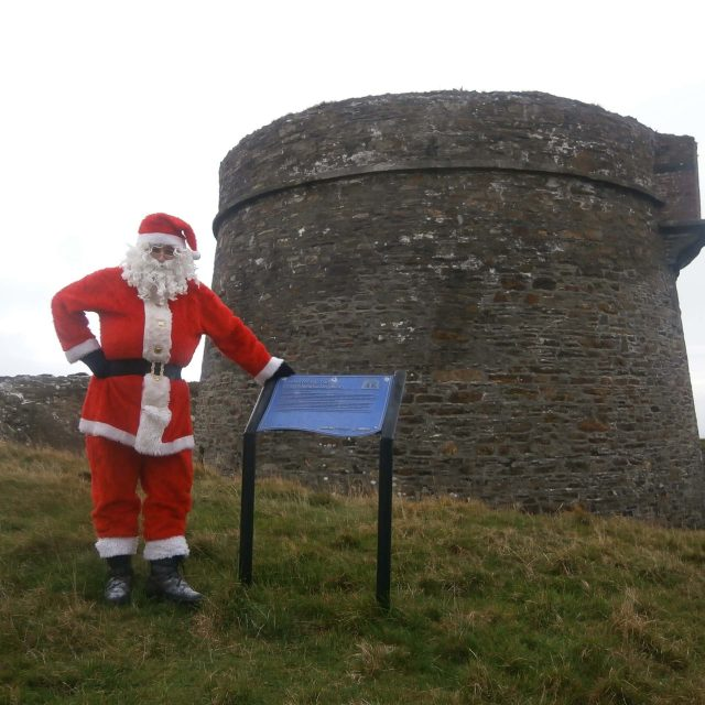 Santa paying a visit to Cloughland Martello Tower, Bere Island.